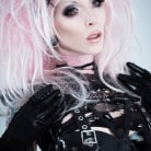 Razor Candi in 'Gorgeous Pink Candy Goth Babe in Torn Fishnets'