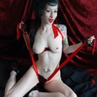 Razor Candi in 'Luscious Pin-up Vamp Razor Candi in Red Ribbons'
